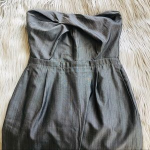 ✨ BANANA REPUBLIC strapless gray dress